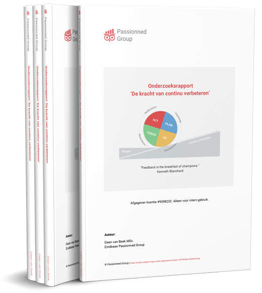 Cover Onderzoeksrapport 'De kracht van continu verbeteren'